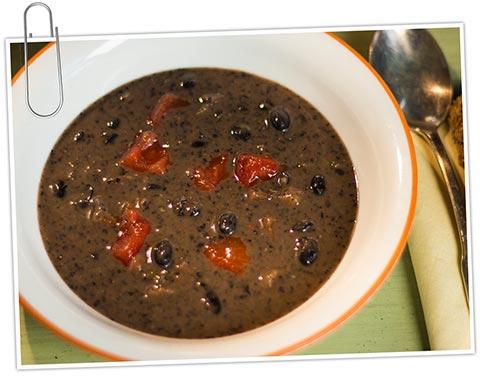 costa rican black bean soup