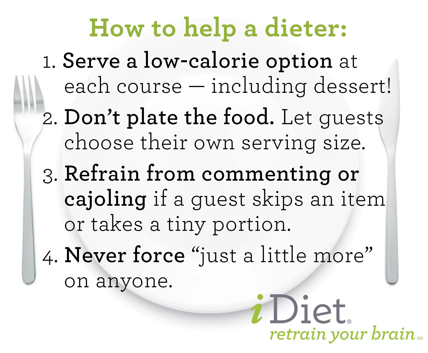 How to Help a Dieter - 3 tips